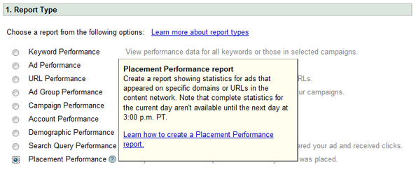 Placement Performance Report