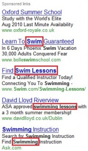 Bold Lettering in Adwords Ads
