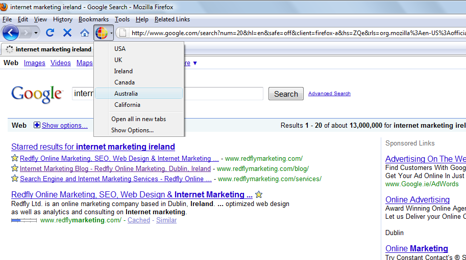 Google Global Firefox & Chrome Extension - Addon For Search