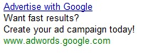 sample adwords ad